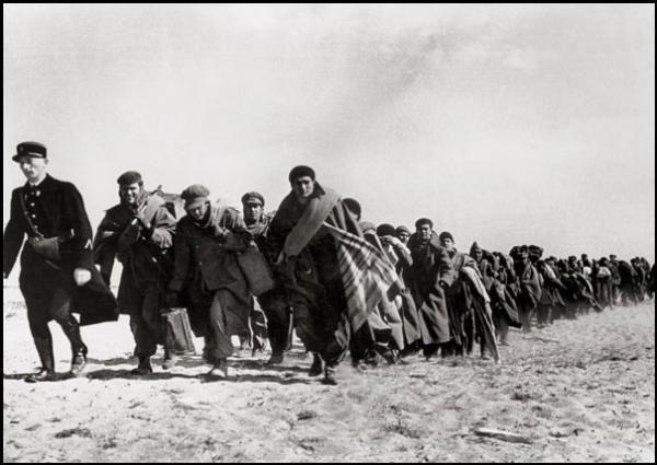 Réfugiés pendant la guerre d'espagne