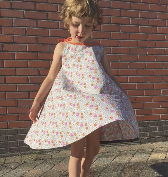 Robe d'été facile à coudre pour fille dolores