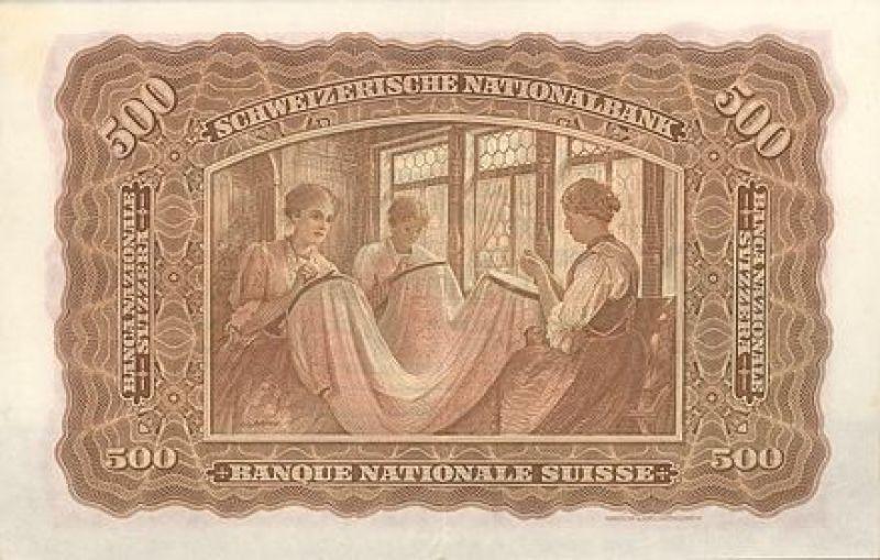 Billet Suisse de 500 Francs de 1911