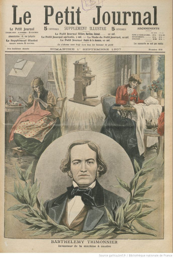 barthelemy-thimonnier-honoré par le Petit Journal