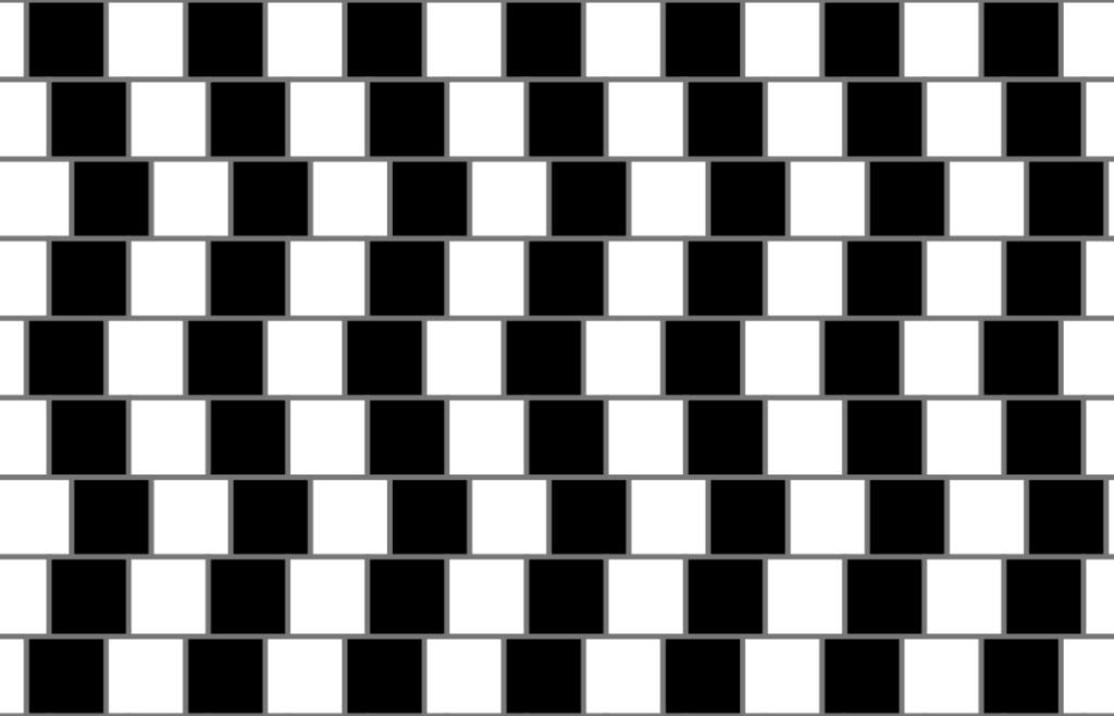 Effet d'optique lignes parallèles