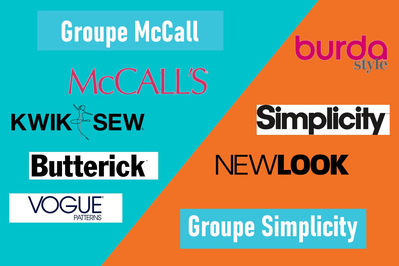 Les groupes McCalls et Simplicity