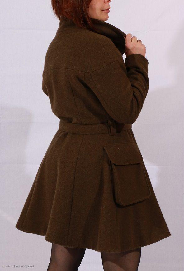 Patron de couture d'un manteau Histoire de coudre