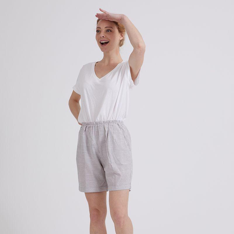 patron facile short coton