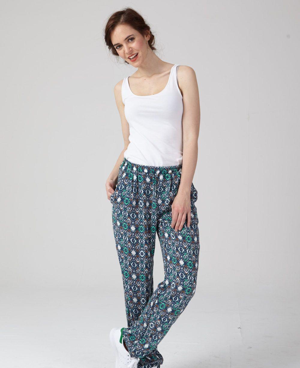 patron couture pantalon facile philippe en bleu