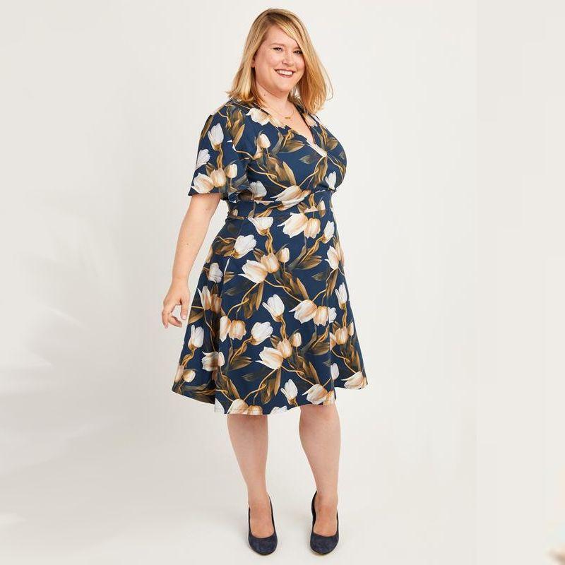 Patron couture grandes tailles modèle alcott