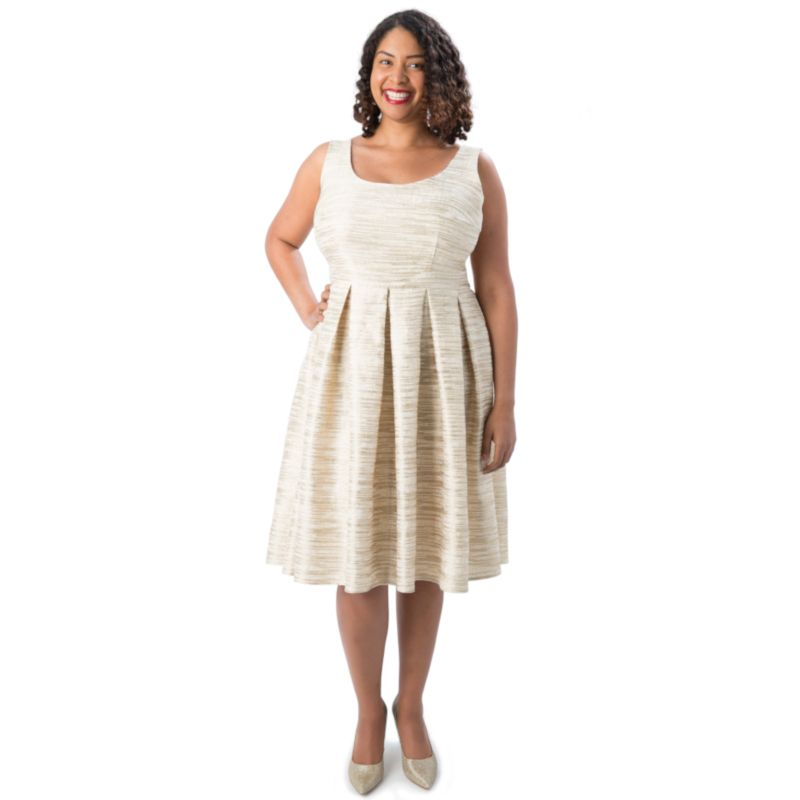 patron grandes taille upton robe plissée