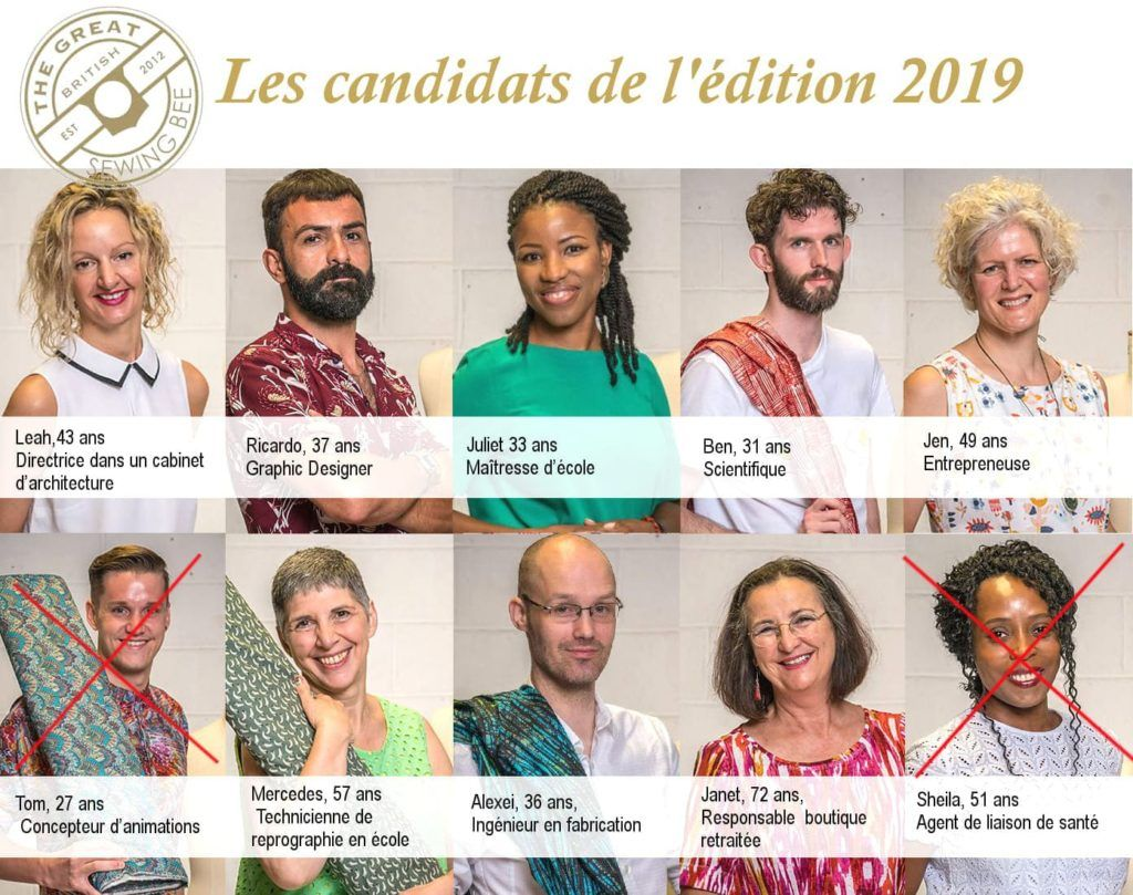 great british sewing bee le candidat éliminé à l'épisode 2