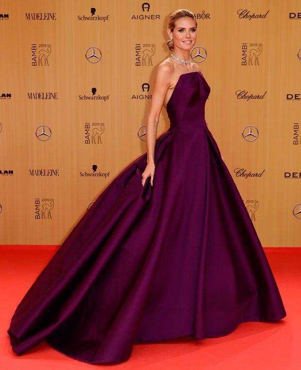 Heidi Klumm dans une robe en néoprène
