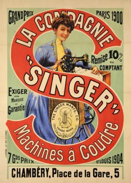 Publicité Singer 1900