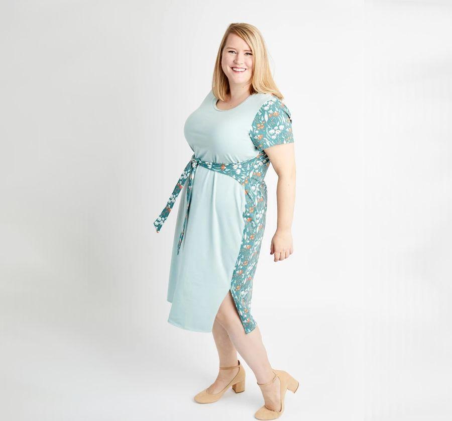 robe Pembroke de Cashmerette bleue pale