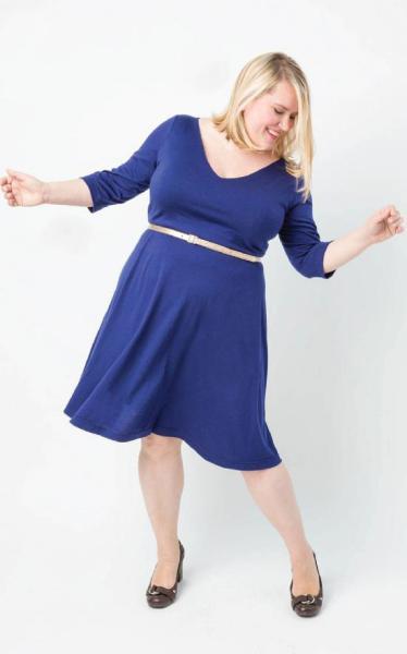 robe Turner bleue de Cashmerette