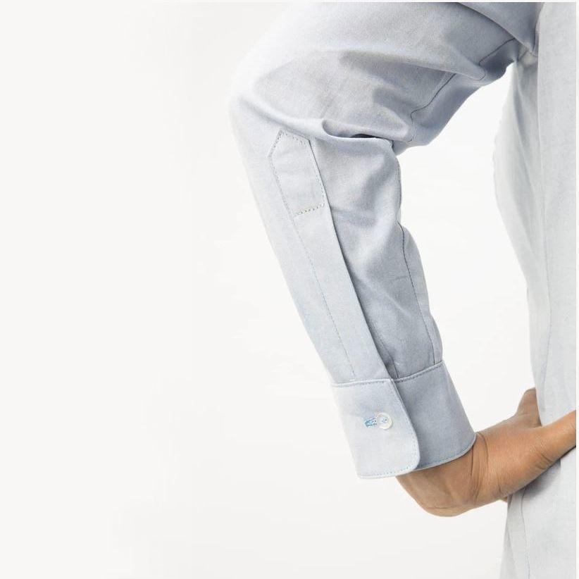 Détail de la manche de la chemise Harrisson de Cashmerette