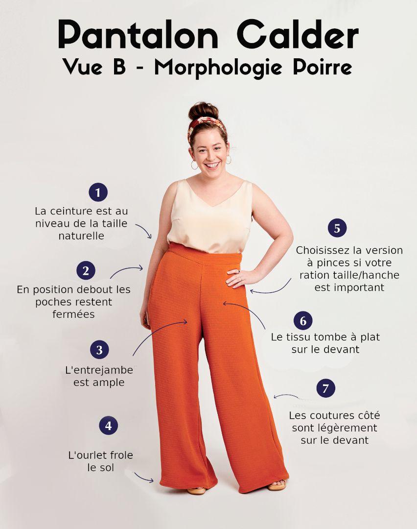 Pantalon pour morphologie Poire