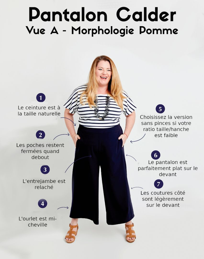 Pantalon pour morphologie pomme
