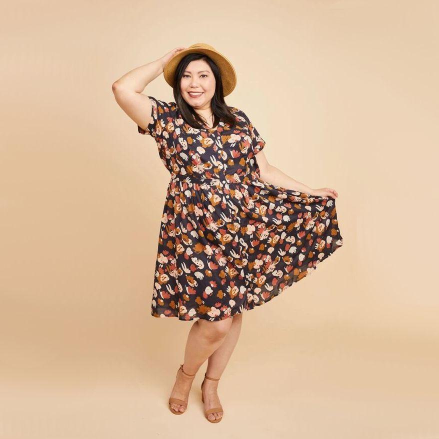 robe lenox fleurie de Cashmerette