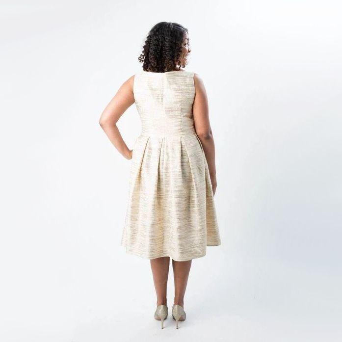Robe grande taille Upton de Cashmerette vue de dos