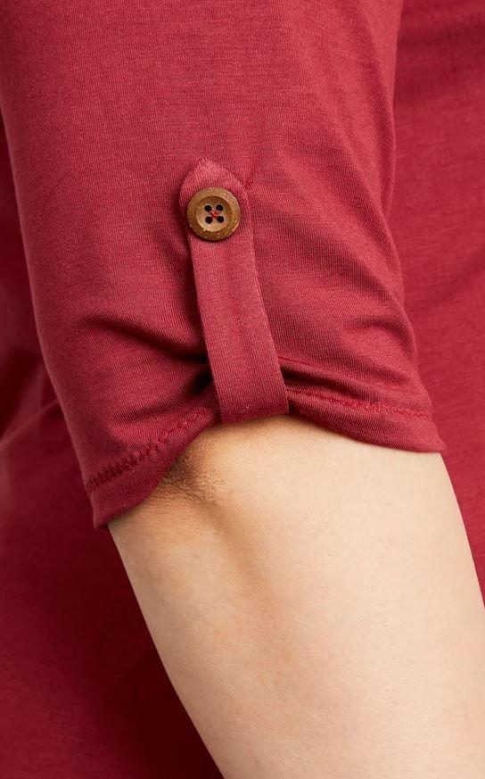 détail du tshirt Concord de cashmerette