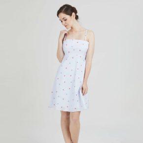 robe courte à bretelles anastasia