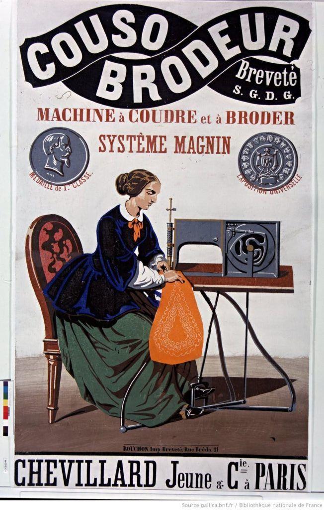 Le  couso-brodeur,inventé par Thimonier