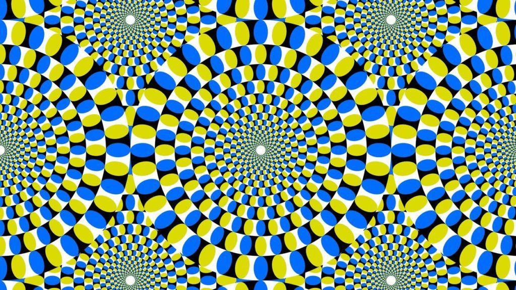 effet optique imprimé en mouvement