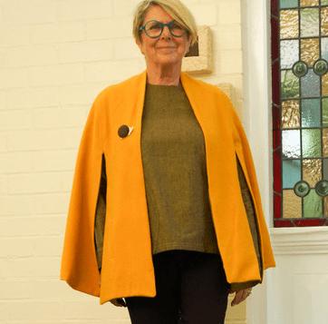 patron couture pattern union cape berverley moutarde