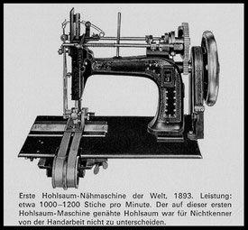 machine à ourlet inventée par Gegauf