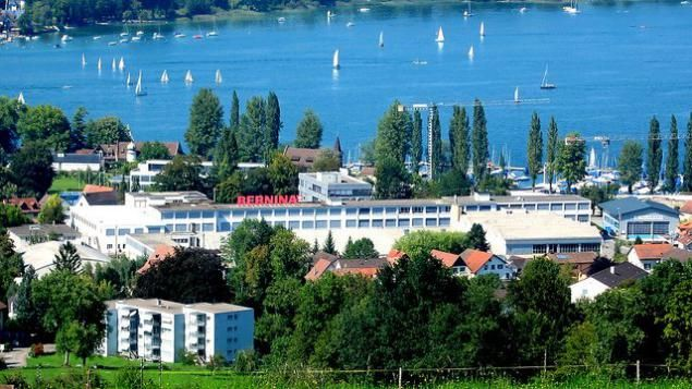 Le siège social de Bernina, dans la banlieue de Steckborn