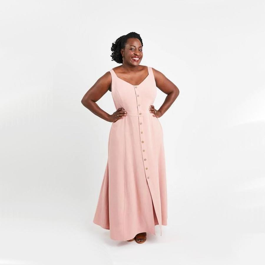 robe grande taille rose Holyoke de Cashmerette