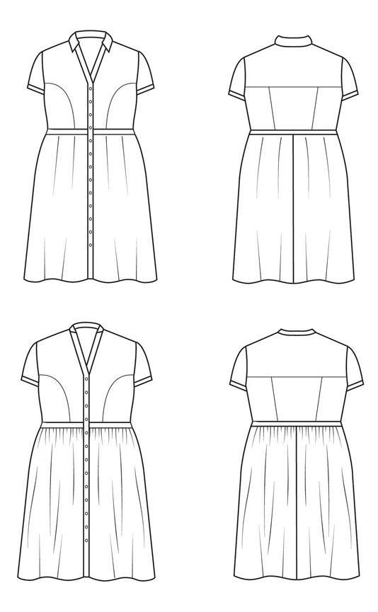 patron couture cashmerette lenox schema