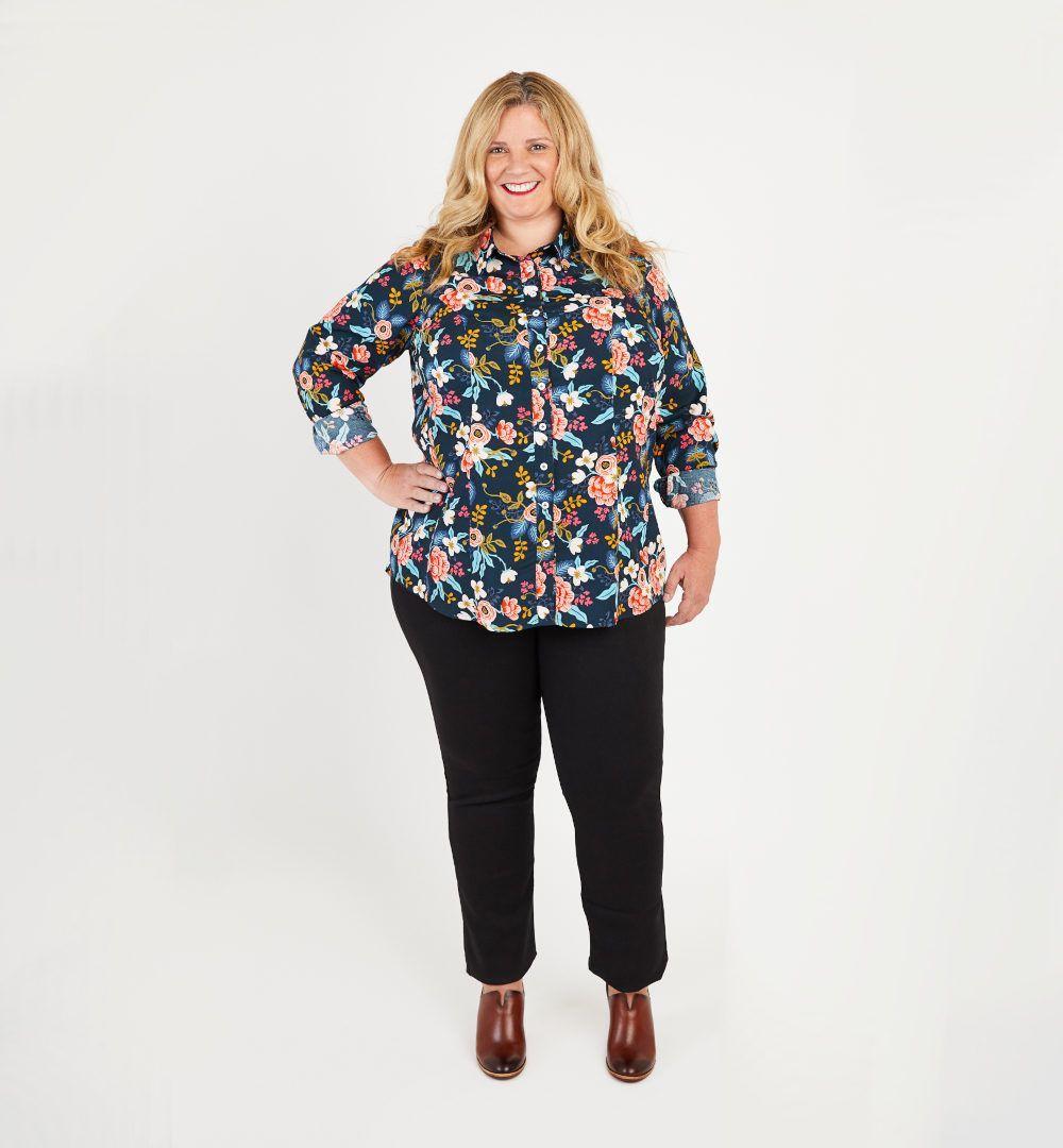 chemise Harrisson fleurie de Cashmerette