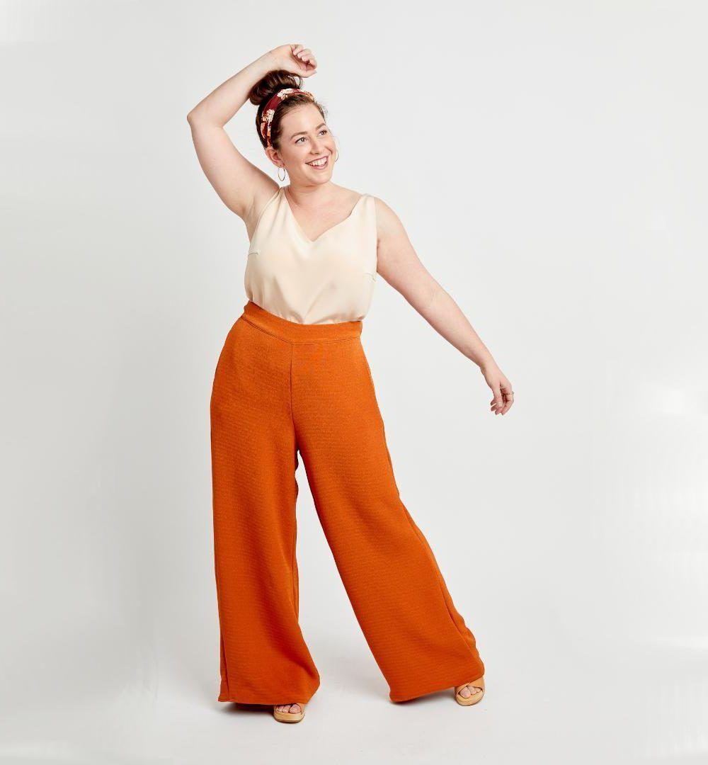 Pantalon grande taille Calder de Cashmerette en orange