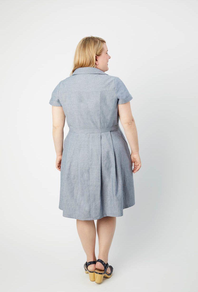 robe Lenox de Cashmerette de dos