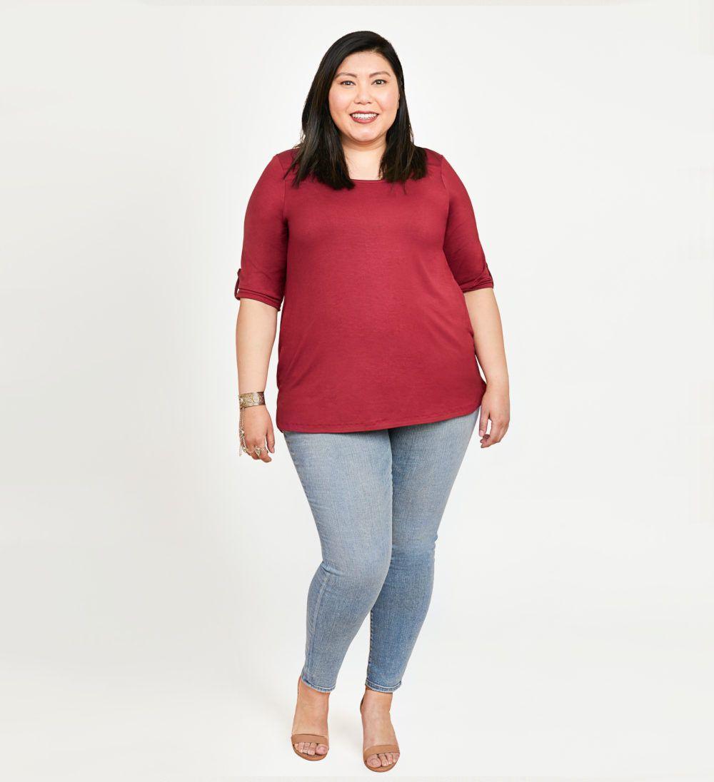 tshirt Concord de Cashmerette rouge