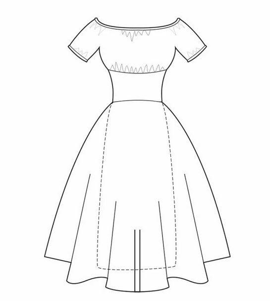 patron couture vintage robe sew la di da
