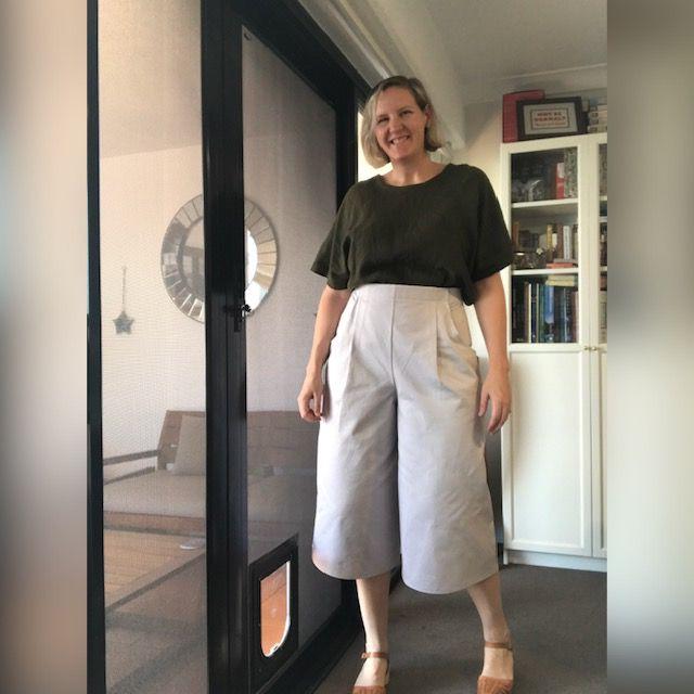 Jupe culotte Hannah de Pattern Union capri blanche
