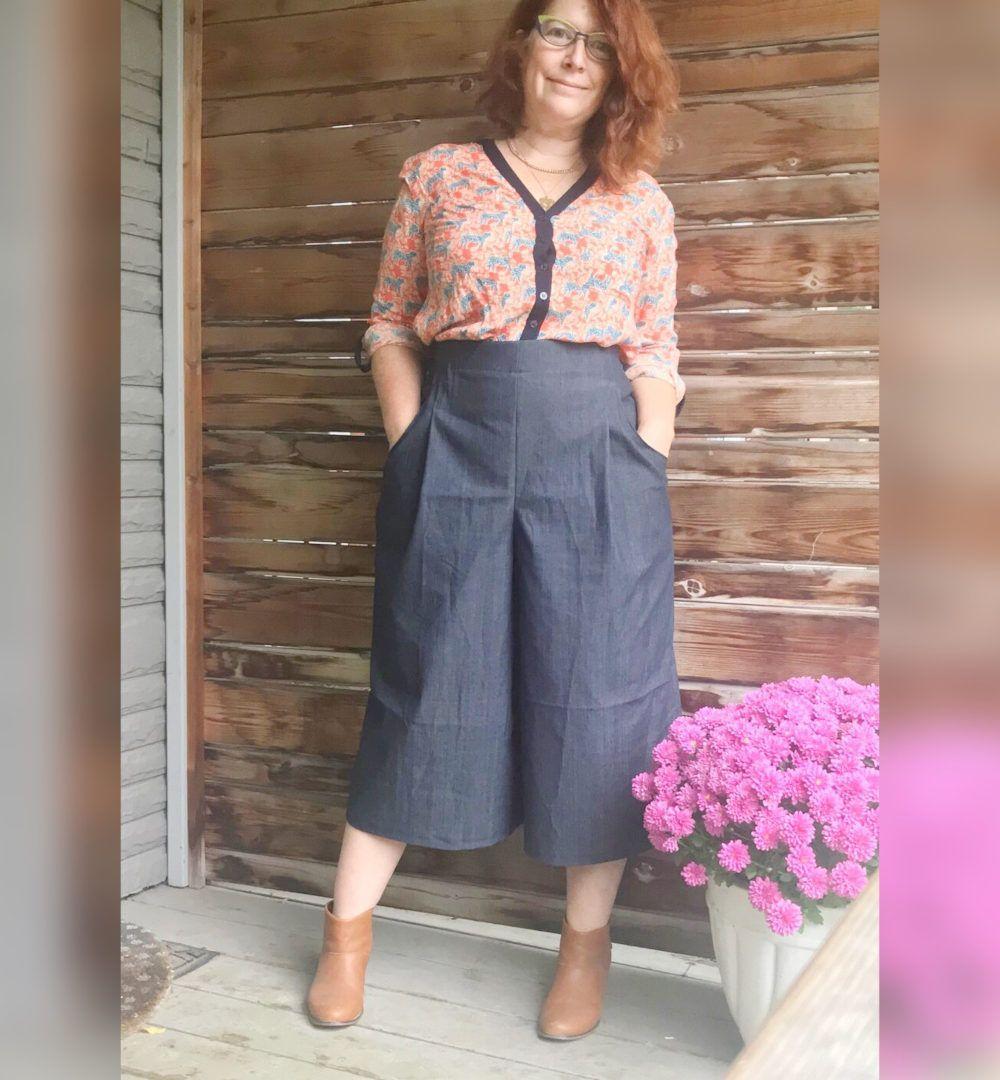 Jupe culotte Hannah de Pattern Union capri grise