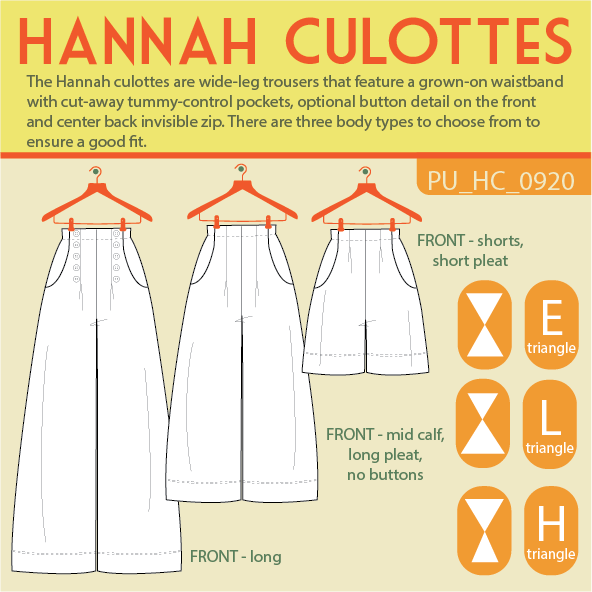 Schema du patrin de couture Hannah