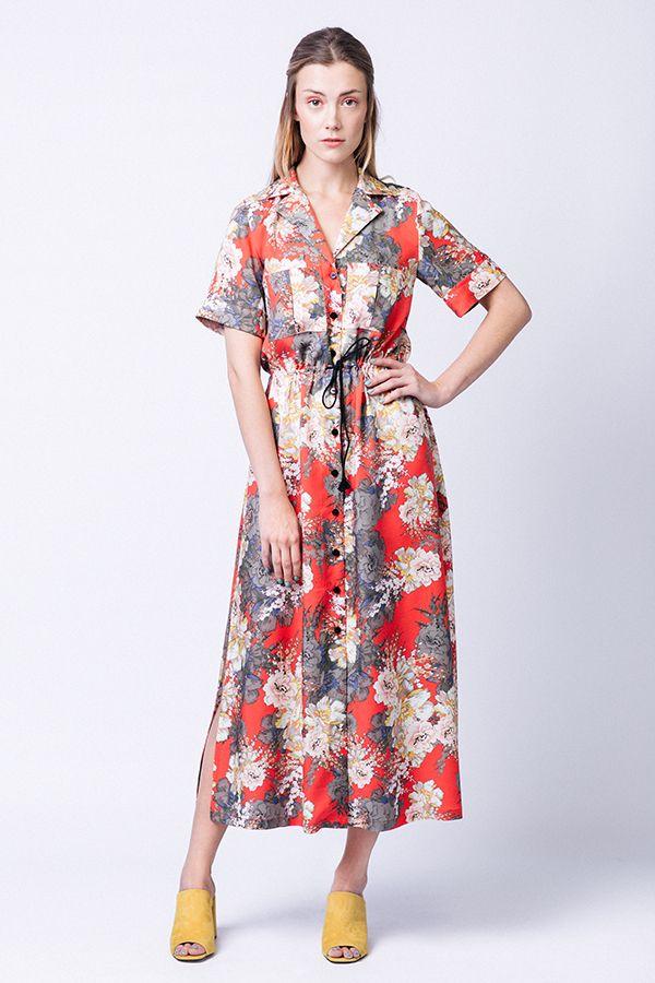 Patron couture Reeta de Named en imprimé rouge