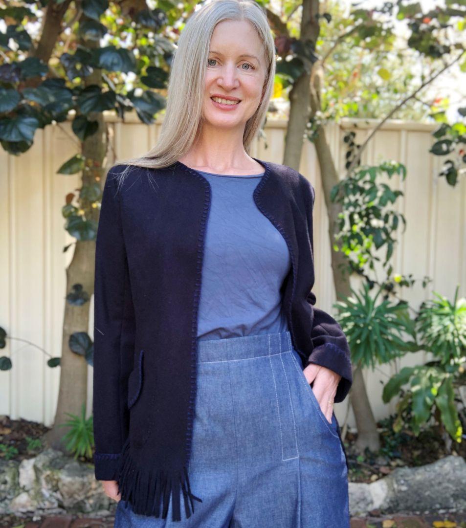 veste droite felix bleue de pattern union