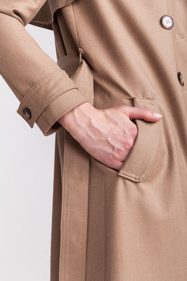 patron couture trench isla détail poche