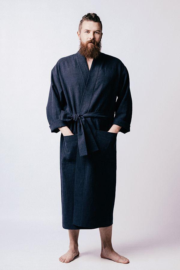 robe de chambre lahja longue bleue