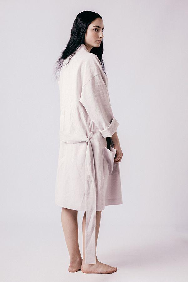 robe de chambre lahja courte de dos