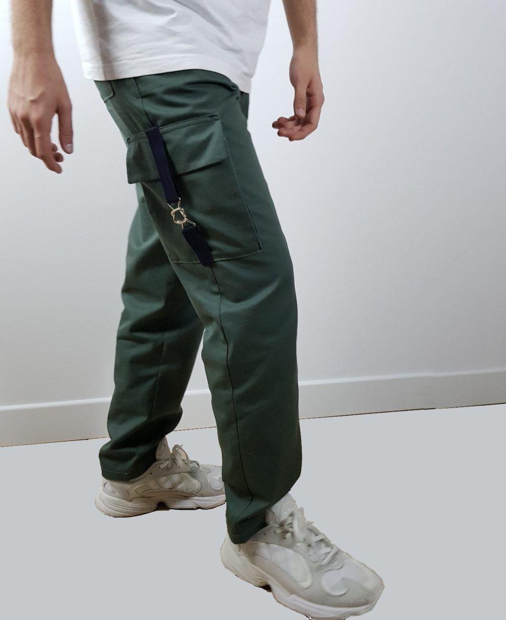 patron couture Pantalon cargo kaki