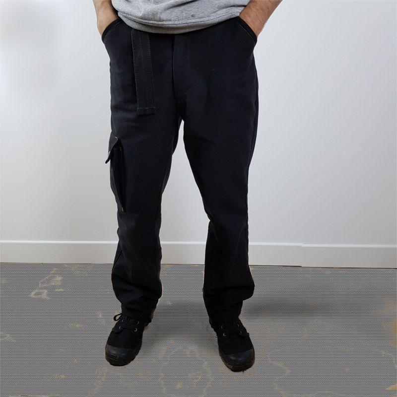 patron couture pantalon cargo noir