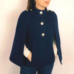 patron couture veste cape capucine de clematisse