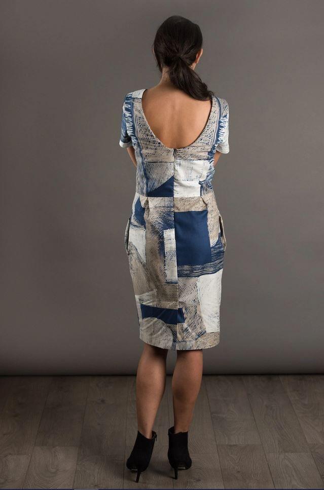 patron de couture the avid seamstress robe ajustée décolleté dans le dos