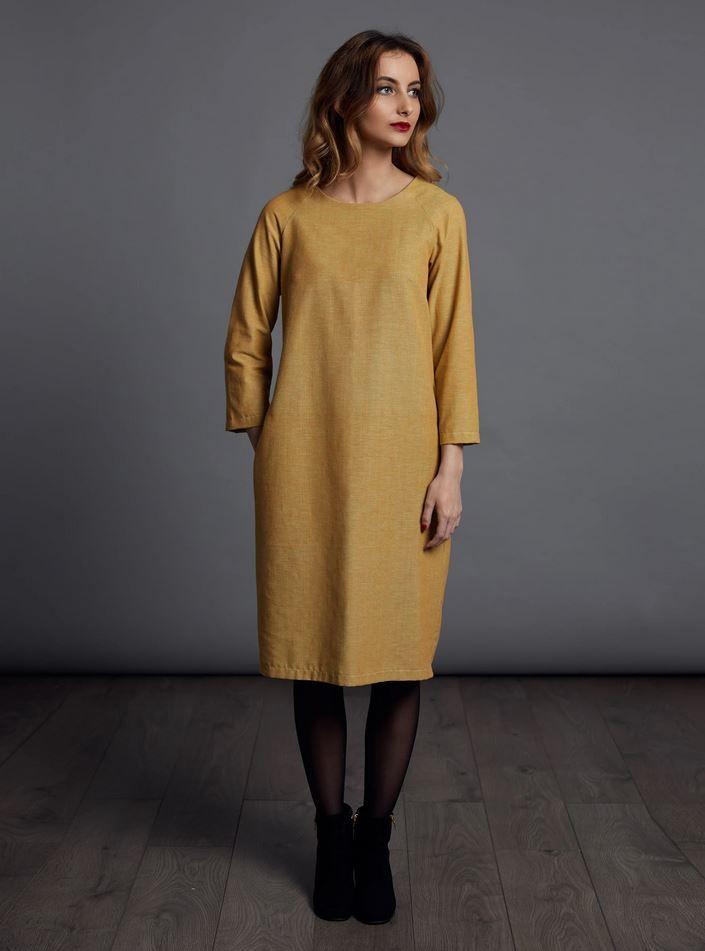Patron couture the avidd seamstress robe plissée pour femme vue de face