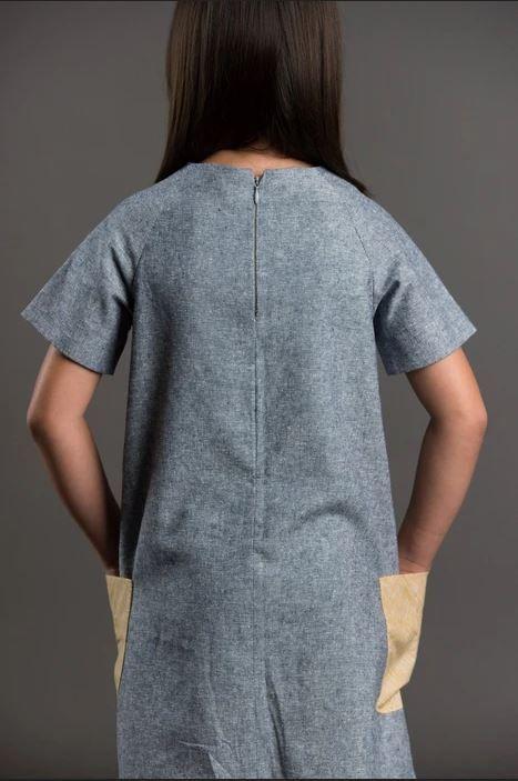 patron couture pour fille robe raglan de dos