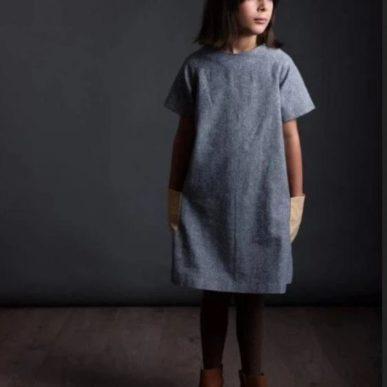 patron de couture robbe pour fille avec des poches